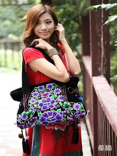 民族风时尚绣花挎包单肩包