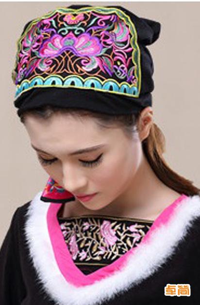 民族风百搭复古刺绣帽子