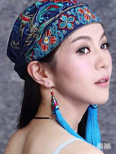 民族风绣花复古帽子