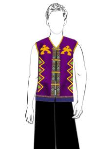 海南传统黎族服饰男无袖长裤方案设计