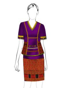 海南传统黎族服饰女短装方案设计