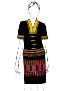 海南传统黎族服饰女夏装方案设计