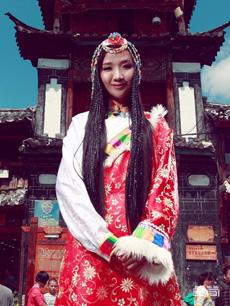 女款红色藏族服饰定制