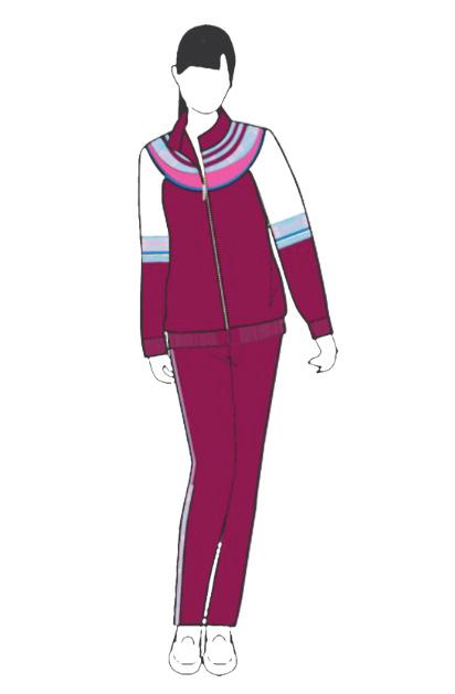 夏装中学校服设计图纸展示